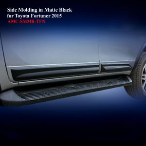 Side Molding for Toyota Fortuner 2015 in Matte Black With Two Tone