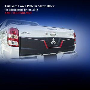 Tail Gate Cover Plate in Matte Black Two Tone for Mitsubishi Triton 2015