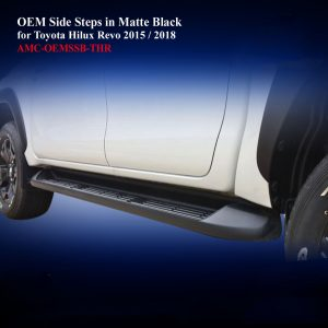 OEM ABS Side Steps in Matte Black