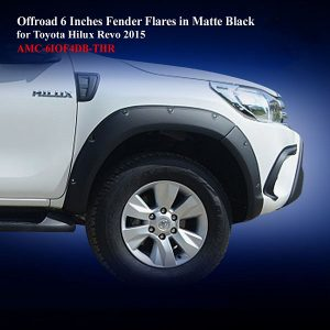 Offroad 6 Inches Fender Flares for Toyota Hilux Revo 2015 in Matte Black