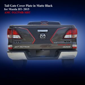 Tail Gate Cover Plate in Matte Black Two Tone for Mazda BT50 2016