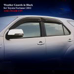 Weather Guards for Toyota Fortuner 2012 in Black