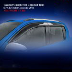 Weather Guards for Chevrolet Colorado 2016 With Chromed Trim