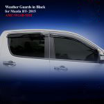 Weather Guards for Mazda BT50 Pro 2016 in Black