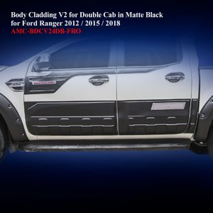 Body Cladding V2 for Double Cab in Matte Black