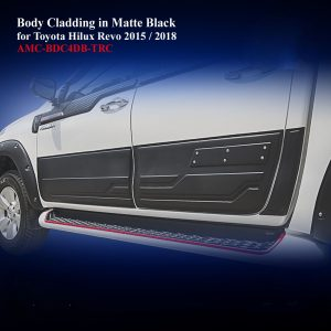 Body Cladding for Double Cab in Black
