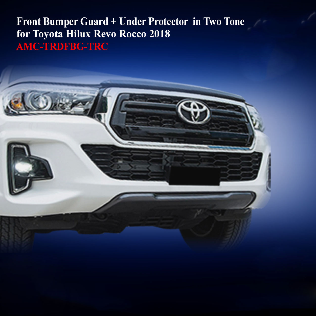 Front Bumper Guard + Under Protector in Two Tone