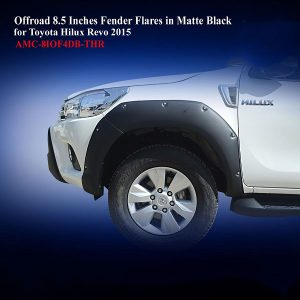 Offroad 8.5 Inches Fender Flares for Toyota Hilux Revo 2015 in Matte Black