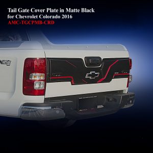 Tail Gate Cover Plate in Matte Black Two Tone for Chevrolet Colorado 2016