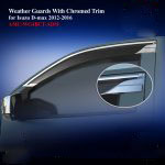 Weather Guards for Isuzu DMAX 2012 With Chromed Trim