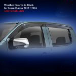 Weather Guards for Isuzu DMAX 2012 in Black