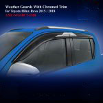 Weather Guards for Toyota Hilux Revo 2015 With Chromed Trim