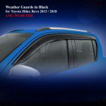Weather Guards for Toyota Hilux Revo 2015 in Black