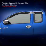 Weather Guards for Toyota Hilux Revo 2012 With Chromed Trim