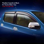 Weather Guards for Toyota Hilux Vigo 2012 in Black