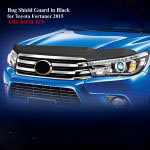 Bug Shield Guard for Toyota Fortuner 2015 in Black