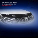 Bug Shield Guard for Mitsubishi Triton 2015 in Black