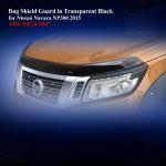 Bug Shield Guard for Nissan Navara NP300 2015 in Black
