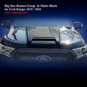 Big Size Bonnet Scoop in Matte Black