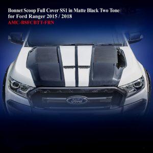Bonnet Scoop Full Cover SS1 in Matte Black Two Tone