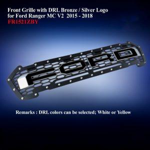Front Grille DRL Bronze/Black Logo