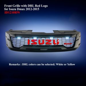 Front Grille with DRL Red Logo