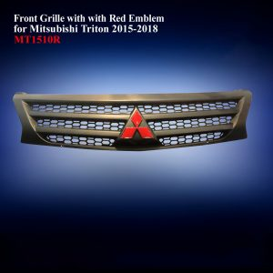 Front Grille with Red Emblem