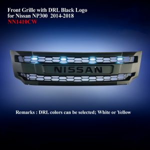 Front Grille with DRL Black Logo